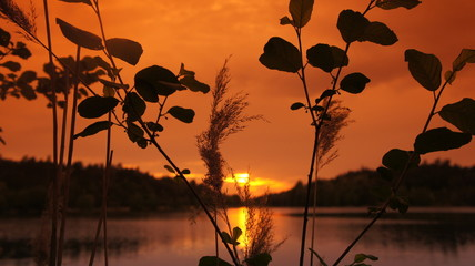 Sunset with Lake