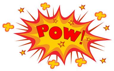 POW! wording sound effect set design for comic