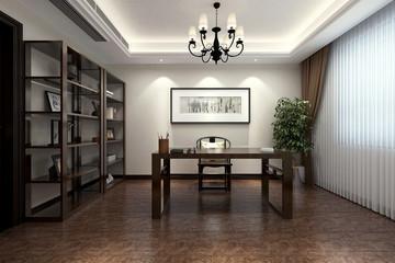 3d render of luxury working space