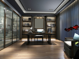 3d render of luxury working space