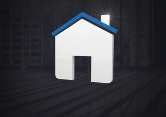 Home icon symbol and dark background