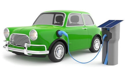 3d Elektroauto
