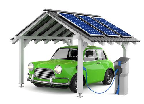 3d Elektroauto Solarenergie