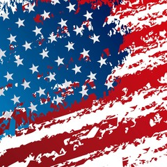 grunge united states of america flag pattern vector illustration