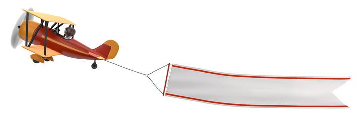 Flieger mit Banner Aufstieg