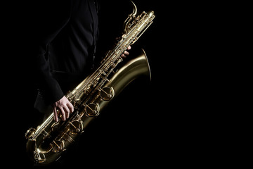 Saxophone player jazz music instrument
