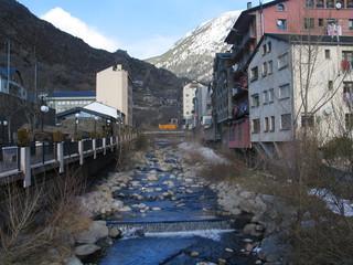 Andorra la Vella, capital de Andorra, elpais de los Pirineos