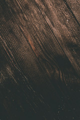 Dark wooden texture. Wood brown texture. Background old panels. Retro wooden table. Rustic background. Vintage colored surface.