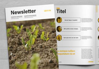 Sauberes Newsletter-Layout