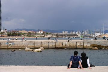Playa Puerto Olimpico de Barcelona (Cataluña, España)
