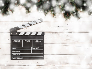 new year cinema clapperboard