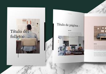 Diseño de folleto en tonos pastel