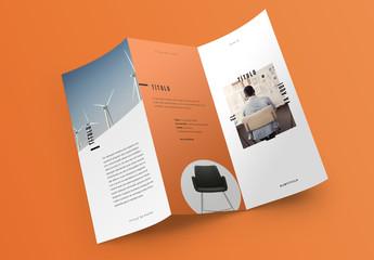 Diseño de folleto pop