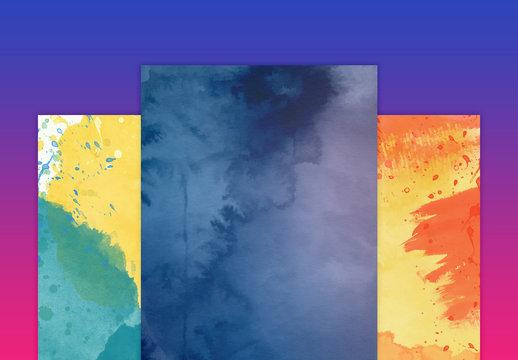 Insieme texture acquerello sognanti