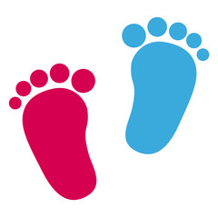 Baby Footprint - Girl And Boy Icons