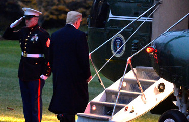 President Trump departs Washington for a weekend in Florida and Mississippi