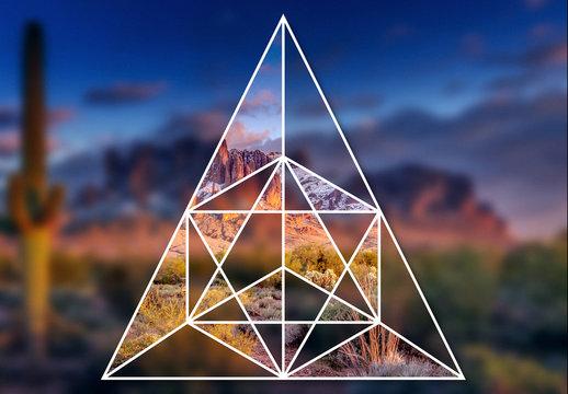 Maschere geometriche intrecciate per immagini