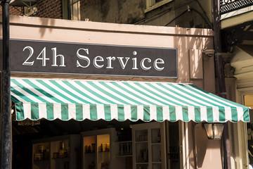 Schild 276 - 24h Service