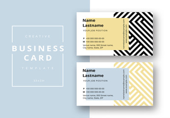 Patterned Business Card Layout 3