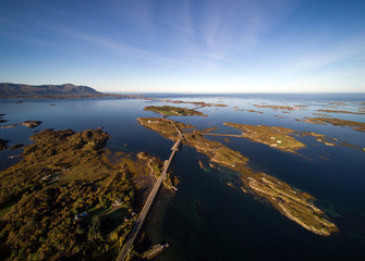 Aerial view of the Atlantic Ocean Road, Norway