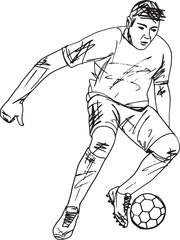 Footbal player illustration