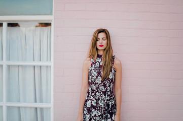 Pink Wall Girl