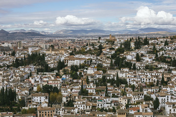 Albayzin seen from the Alhambra, granada, spain