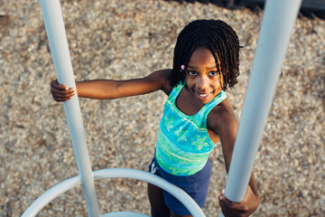 African American girl at a playground