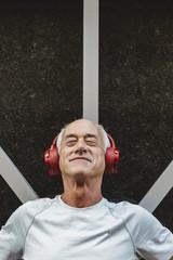 Portrait of Senior Man with Headphones