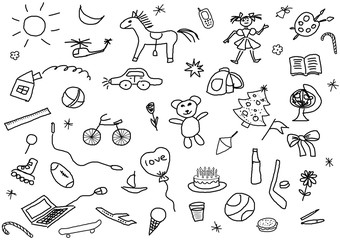 kid's drawings set