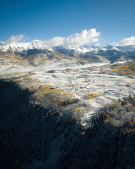 Snowy Mountains Aerial