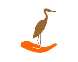 hand stork