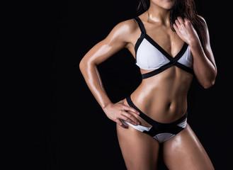 Beautiful body of fitness woman