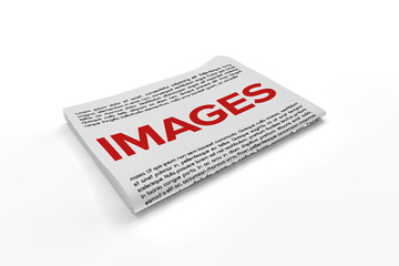 Images on Newspaper background