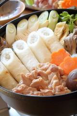 きりたんぽ鍋 Kiritanpo,Rice stick hot pot
