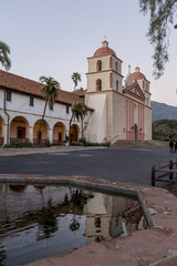 Santa Barbara Mission at dusk