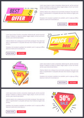 Best Offer Sale Advertising Vector Illustration
