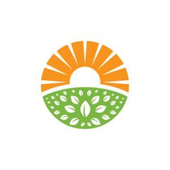 Eco friendly solar logo