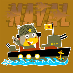 gunboat cartoon vector