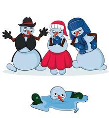 Snowman Vector Xmas set