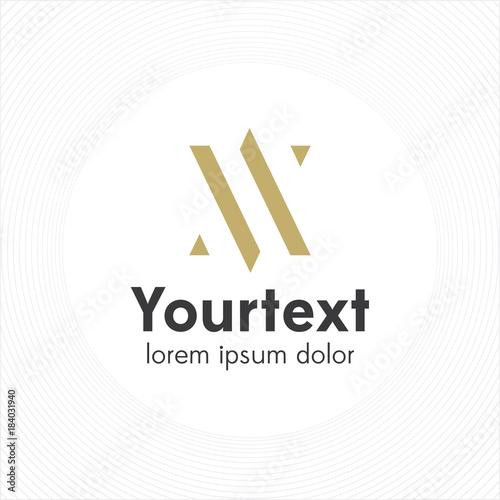 abstract elegant and thin logo design letter a logo letter v logo