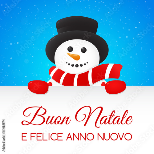 Merry Christmas In Italian.Buon Natale Merry Christmas In Italian Christmas Card