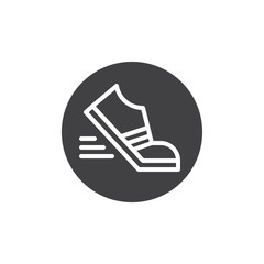 Movement photography icon vector, filled flat sign, solid pictogram isolated on white. Shoes running symbol, logo illustration.