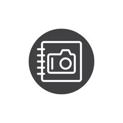 Photo album icon vector, filled flat sign, solid pictogram isolated on white. Symbol, logo illustration.