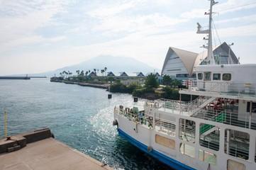 桜島フェリーの出航