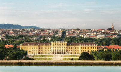 View of the Schönbrunn, summer palace of the Habsburgs, Vienna, Austria