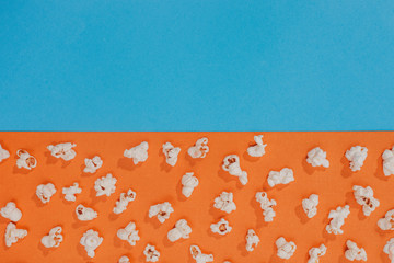 Popcorn on a colorful background