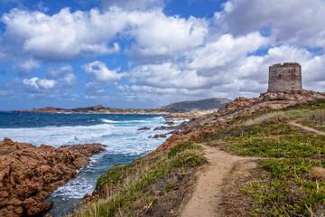 Spanisch Turm Isola Rossa Stadt Hügel