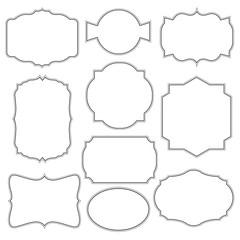 Set of frames template vector