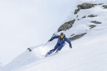 professionell Skifahren